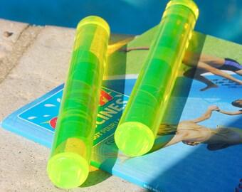 Dive sticks - handmade, funky, bright colours.