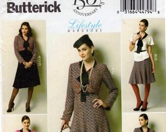 Butterick B5859 (aka BP255) 1940s' Jacket, skirt with Bolero High Waist Trousers