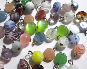 """20 Mixed Vintage Glass Bead """"Charms"""""""