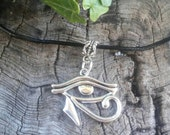 Eye of Horus Necklace, Egyptian, Egyptian Jewelry, Eye of Ra, Eye of Ra Necklace, Egyptian Necklace, Wiccan Jewelry, Witchcraft, Wicca