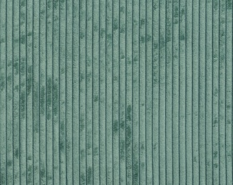 Teal Corduroy Striped Soft Velvet Upholstery Fabric By The Yard   Pattern # B0700F