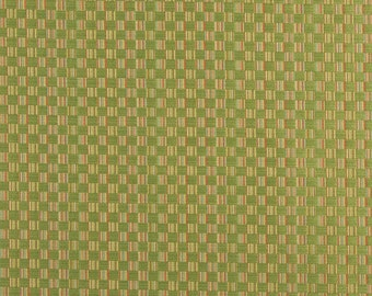 Green Red And Gold Checkered Upholstery Jacquard Fabric By The Yard | Pattern # A0080C