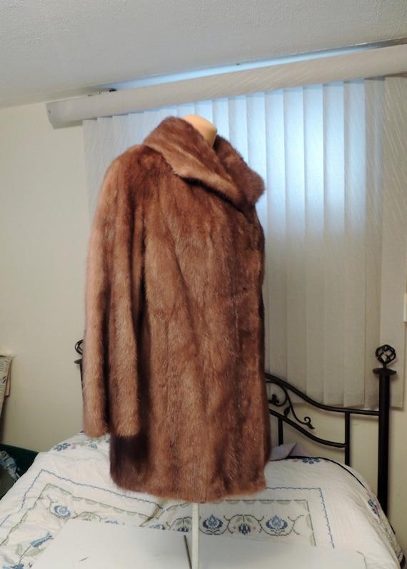 Gorgeous Vintage Hudson's Bay Pastel Mink Genuine Fur Coat Honey Brown Hudson 14