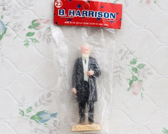 Benjamin Harrison Figure - 1960s Marx Toys - 23rd President - Made in the British Colony of Hong Kong