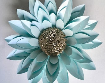 3D Paper Flower Wall Décor, backdrop or table centrepiece flower