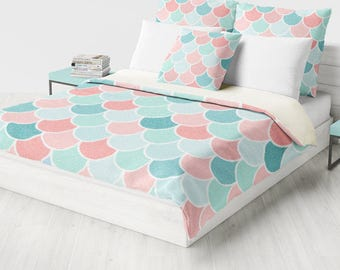 Coral And Mint Bedding Coral Mint Bedding Etsy