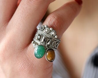 Vintage Taxco Mexico 925 Silver Ring - Boho Silver Ring - Filigree Silver Ring - Size 5 Ring For Women