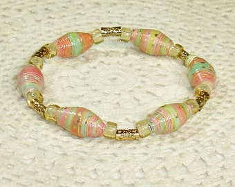 Paper Bead Bracelet Jewelry Accessories Spring with Gold