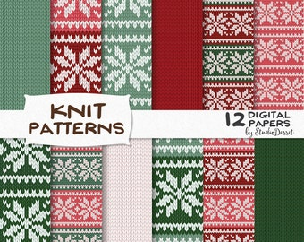 Knitted Digital Papers, Ugly Christmas Sweater, Snowflakes Wooven Backgrounds, Scandinavian, Winter Knit Overlays, Textile texture A115