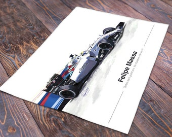 Felipe Massa F1 Print - Limited Edition - 50 prints only