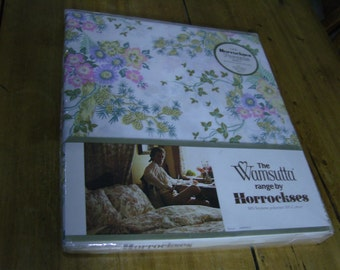 Vintage Flowery Double Bed Sheet