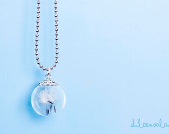 Crystal Necklace with dandelion