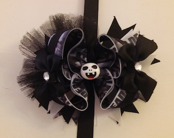 Large walking dead inspired boutique bow