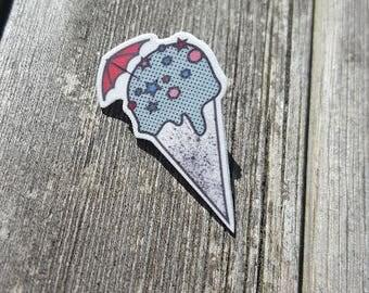 Handmade graphic ice cream illustrated pin gift