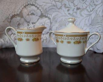 Empress China Creamer & Sugar Set 'Normandy' Pattern