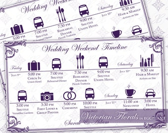 printable wedding timeline template editable wedding weekend
