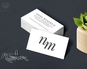 Typography Elegant Business or Calling Card for a business professional,Real Estate,Photographer,Boutique,Consultant,Appraiser, Fiduciary