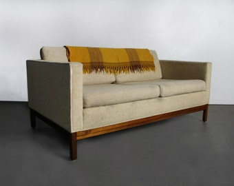Handsome Mid Century Johnson Furniture Company Loveseat/ Sofa