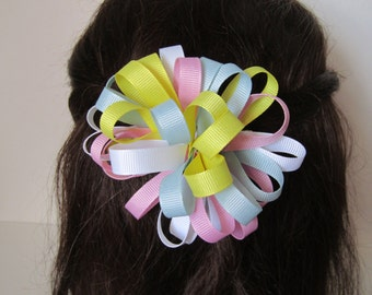 Loopy Pastel Boutique Hair Bow