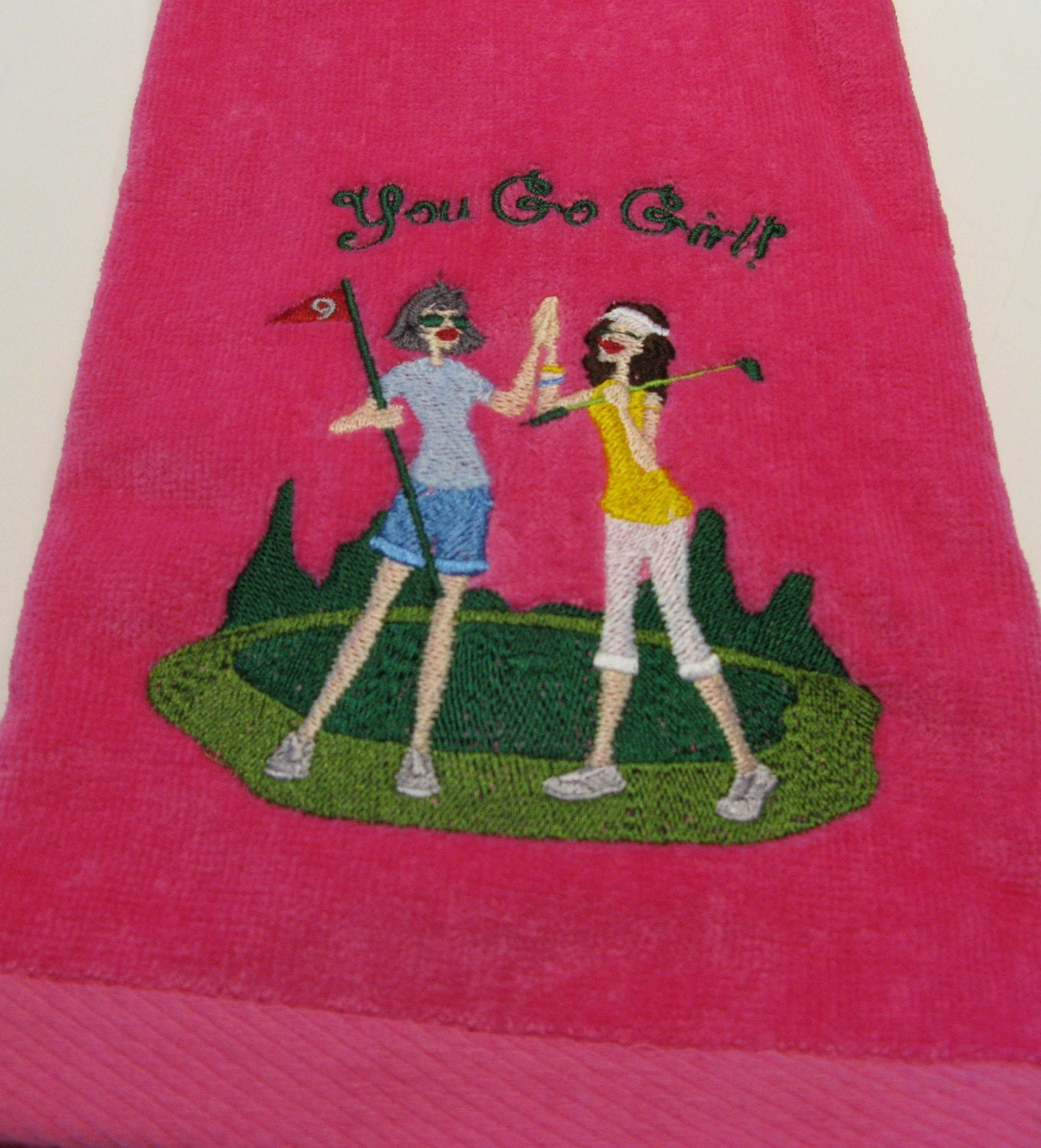 Embroidered Ladies Golf Towel 2 Ladies You Go Girl