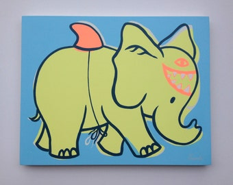 Sharkephant on wood
