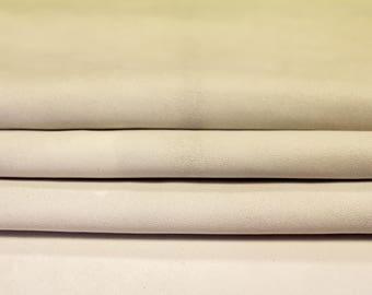 Creamy White leather fabric, genuine suede, lambskin leather, white leather, real lambskin, leather fabric, 118, 0.5 mm, sold per piece