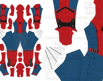 Homecoming Spiderman costume pattern