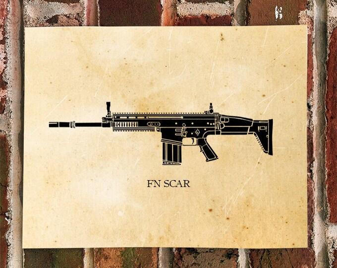 KillerBeeMoto: Limited Print FN SCAR Battle Rifle Print