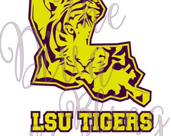 LSU Tigers Louisiana - LSU Inspired  SVG File