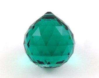 8558 EMERALD 30mm Swarovski Strass Crystal Ball, Fengshui Crystal Ball, Dark Green Swarovski Crystal Prism