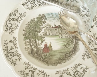 Mismatched China WindsorWare Dinner Plate Mount Vernon Pattern By Johnson Brothers For Wedding, Dinning, Collectable, Replacement