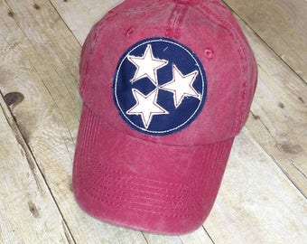 Tennessee Tristar Red Raggy Patch Hat