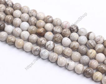 10mm Gray Jasper Beads -- Wholesale Loose Round Ball Bead With Well Ploished Gemstone Natural Stone YHA-215