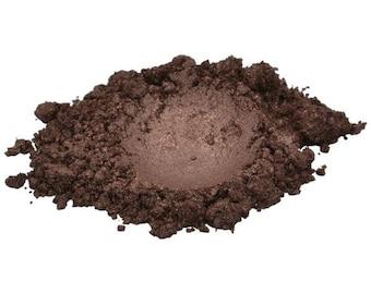 SWISS CHOCOLATE  LUXURY Dark Brown Mica Colorant Pigment Powder Cosmetic Grade Eyeshadow 1 oz, 30 g