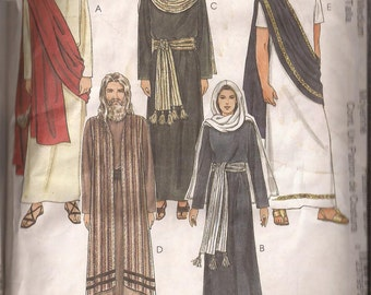 McCalls 2060 Adult The Passion Play Costumes pattern. Choose size Med (34-36) or Lg (38-40). Vintage 1999