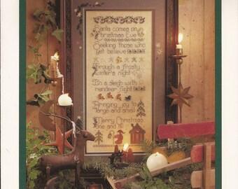 Santaberry Pudding, Counted Thread Cross Stitch Designs. Shepherd's Bush Printworks., Vintage 1996