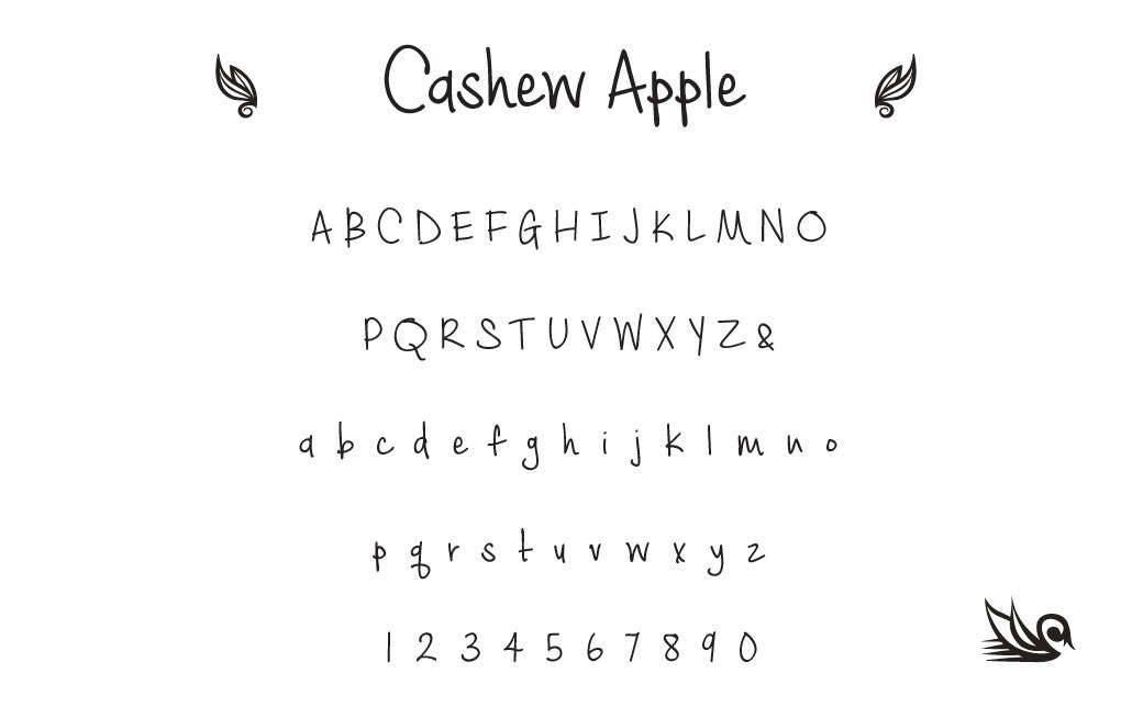 Cashew Apple 3.00mm font STAMPS,#205 Complete Set. Professional ...