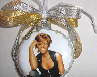 Whitney Houston inspired Tribute Christmas Ornament