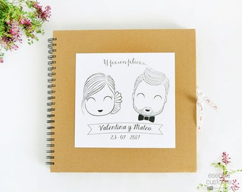 "Custom Wedding Guest Book ""Happily ever after"""