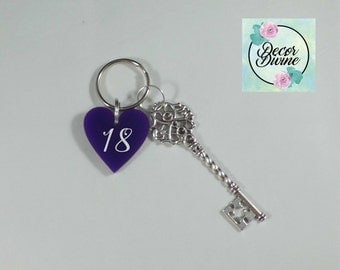 18th Birthday Key/18th Birthday Gift/Personalised 18th Birthday/Gift For 18th Birthday girl/Gift for 18th Birthday boy/Birthday Gift
