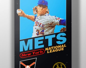 New York Mets Retro NES Box Art Print- Noah Syndergaard