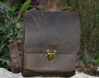 Men's Genuine Leather Hand crafted bag