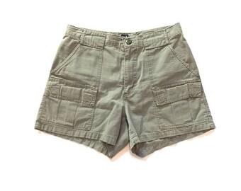 Vintage Olive Green Tom Boy Gap Cargo Shorts