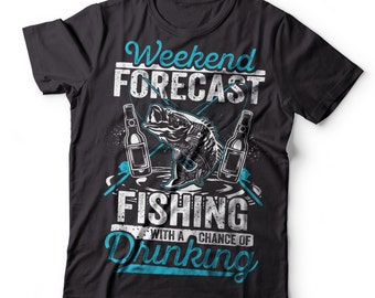 Fishing T-Shirt Gift For Fisherman Shirt Fishing Drinking Tee Shirt