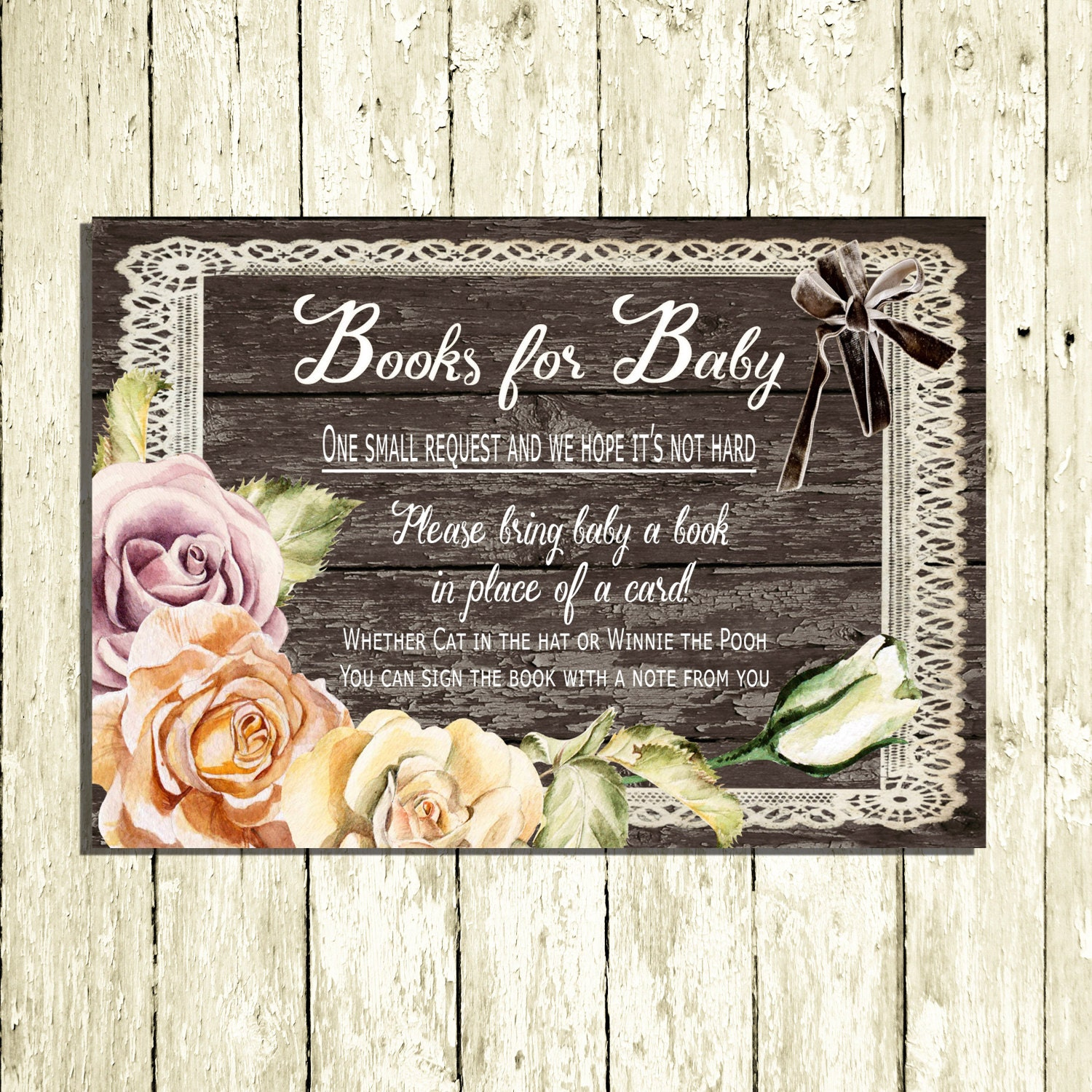 Antique Baby shower Invitation Rustic Baby shower Invitation Cards
