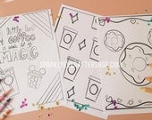 Magic, Coffee and Donuts Coloring Pages Collection