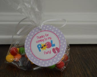 Pool Party Favor Tag - Swim Party Favor Tag - Pool Birthday Party - Summer Party - Summer Birthday - Swimming Pool Party - Set of 12