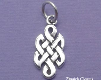 CELTIC Knot Charm .925 Sterling Silver, Endless KNOT MINIATURE Small - elp1779