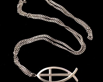 Lovely sterling silver ichthys pendant