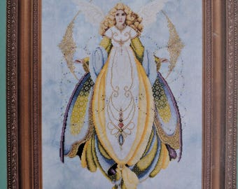 Lavender & Lace ~ Angel of Healing ~ Counted Cross Stitch Pattern Chart